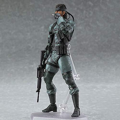 BINGFENG Metal Gear Solid Snake Figma243# Anime Action Figures Statuetta da Collezione PVC Anime Character Giovani Adolescenti E Anime Fan Regalo 16CM