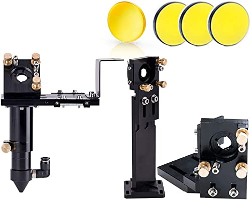 lowest Cloudray high quality E Series Head Set with 1 PCS USA Focus Lens D18mm FL38.1mm and 3 wholesale PCS Si Mirrors D25mm for Co2 Laser Engraver Cutting Machine Parts (18-38.1) outlet sale