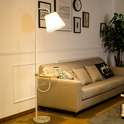 Lampes de sol Lampadaire Salon Canapé Lumière Chambre Chevet Lampe Table Basse Lampe E27 7W (Couleur : LED warm light 8W)