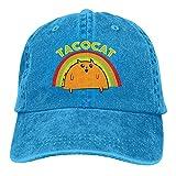 Bokueay Taco Cat Gorra de Mezclilla Deportiva Ajustable Snapback Unisex Llanura Sombrero de Vaquero de béisbol Estilo clásico