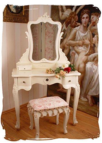 Schminktisch/Frisiertisch/Frisierkommode/Schminkkommode/Spiegeltisch in romantisch schöner Optik für das heimische Frisierzimmer oder den Salon - Palazzo Exclusive