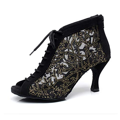 Syrads Zapatos de Baile Latino Mujer Salsa Bachata Kizomba Zapatos de Tango Samba Vals Baile de Salón