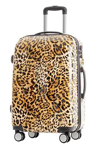 BEIBYE BEIBYE Reisekoffer Hartschalen Hardcase Trolley Zahlenschloss Polycarbonat Set-XL-L-M- Beutycase (Leopard, M(Handgepäck))