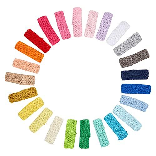 Crochet Headbands for Women, Teens, Girls, 24 Colors (24 Pack)