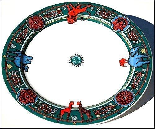 BOPLA Africa Porzellan Classics - Grosser Teller 27 cm Large Plate 10 5/8 in. Assiette Grande 27 cm Piatto Grande 27 cm (Grundfarbe grün)