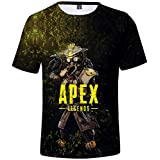 EMILYLE メンズ APEX LEGENDS 3Dプリント Tシャツ ゲーム エーペックス・レジェンズ 人気 半袖 Bloodhound S
