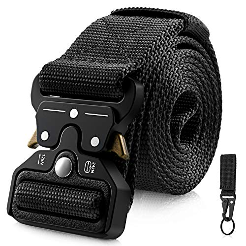 Discover Bargain Barbarians Tactical Belt for Men, 1.5 Inch Heavy-Duty Webbing Belt Adjustable Milit...