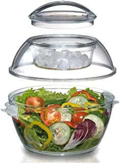 Prodyne CB-4 Iced Go Salad Bowl, 5.5 Qt, Clear