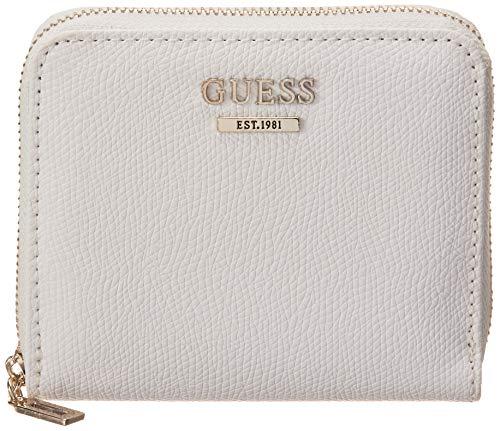 GUESS Damen Portemonnaie Zip Around Clutch, (Weiß/Mehrfarbig), Einheitsgröße
