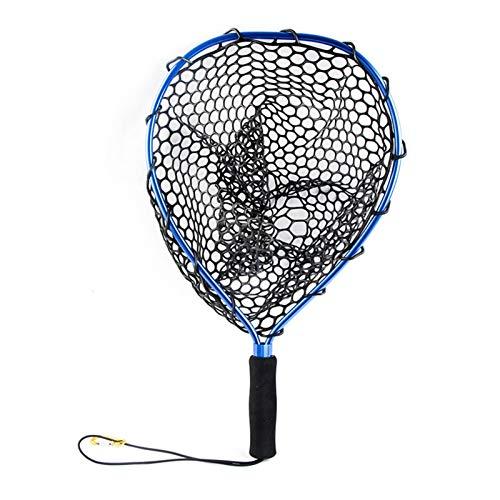 Duradero 4 Colores 35 cm Portátil portátil Pesca Dip Dip Net Nets LANZADORES DE COMBALLO con CORDÓN Y Hebilla Elasticos Fácil Captura y liberación (Color : Blue)