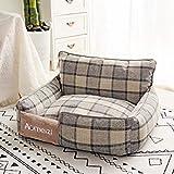 cani letto cuccia staccabile per cani di piccola taglia di taglia media traspirante per tutte le stagioni cuccia in cotone lavabile cuccia divano cuccia prodotti per animali l65x55cm 3