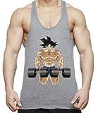 THE LION Goku Body Gym Camiseta de Tirantes para Hombre Goku Dragon Master Son Ball...