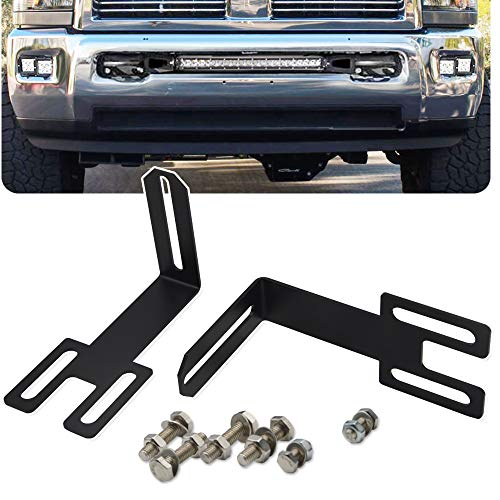 Compatible with 2003-2020 Dodge Ram 2500 3500 Hidden Bumper Grille Mounting Brackets Fit 22'' 32'' 42'' Straight LED Light Bar