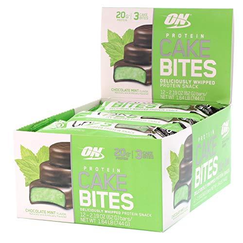 Bombom de Proteína Cake Bites 3 und - Caixa c/ 12 Unidades - Optimum Nutrition (menta)