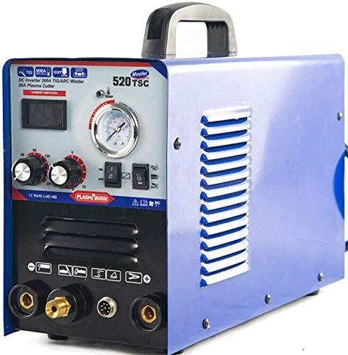 SUSEMSE TIG/WIG/MMA/Plasmaschneider-Schweißgerät 3 in 1 Kombi-Multifunktion Plasmaschneider mit 50 A Luftwechselrichter 200 A Schweißgerät 220 V Schweißgerät 520TSC