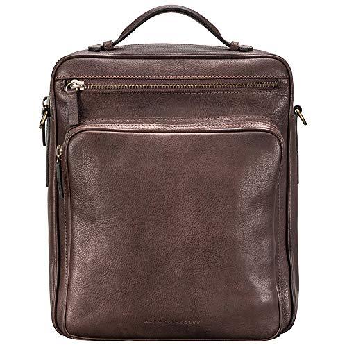 Maxwell Scott Men's Leather Convertible Backpack - SantinoL Brown