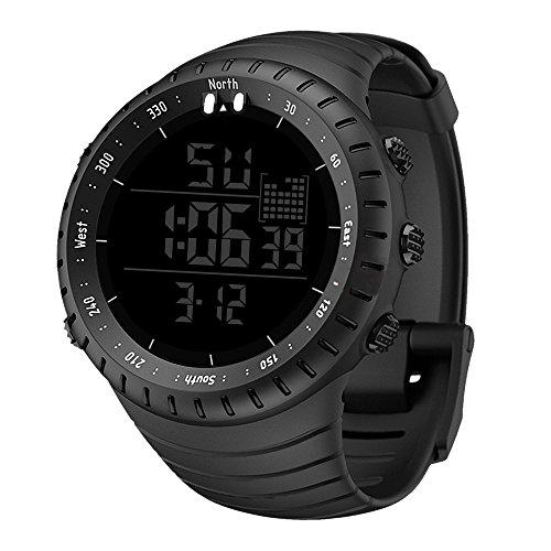 NEEKY Herren Armbanduhr,Sportuhren,Smartwatch,Für Unisex Fitness Uhren - Wasserdichte Herren Outdoor Sports Watch Leuchtende Weckeruhr Watch