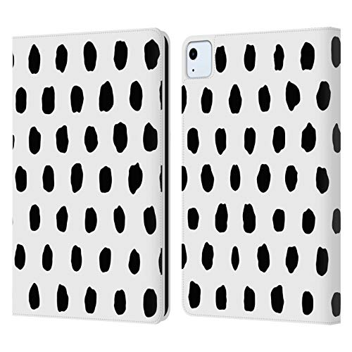Head Case Designs Licenciado Oficialmente Ninola Monocromático Geométrico 2B Carcasa de Cuero Tipo Libro Compatible con Apple iPad Air (2020)