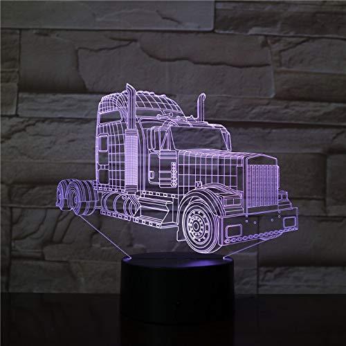 Nur 1 Stk. Die 3D-Lampe mit LKW-Kopf moderner Preis mehrfarbig und ferngesteuerte LED-Nachtlichtlampe. Einzigartig dekorativ für den Innenbereich