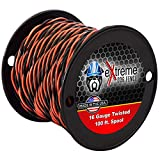 Extreme Dog Fence 16 Gauge Transmitter Wire - 100 Foot Spool of Pre-Twisted Cable - Compatible with All Wired Electric Dog Fence Systems