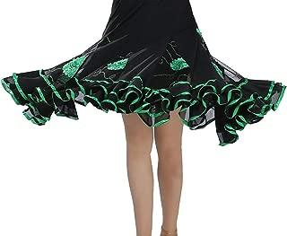 Lishui Damen Blumen Faltenrock Tanzrock Swing Walzer Ballroom Tango Latein Kostüm