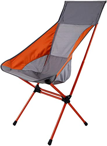 HBLWX Chaise de Camping Pliante Chaise de pêche Dossier Ultra-léger portable pour Barbecue Voyage en Marchant Activités de Plein air