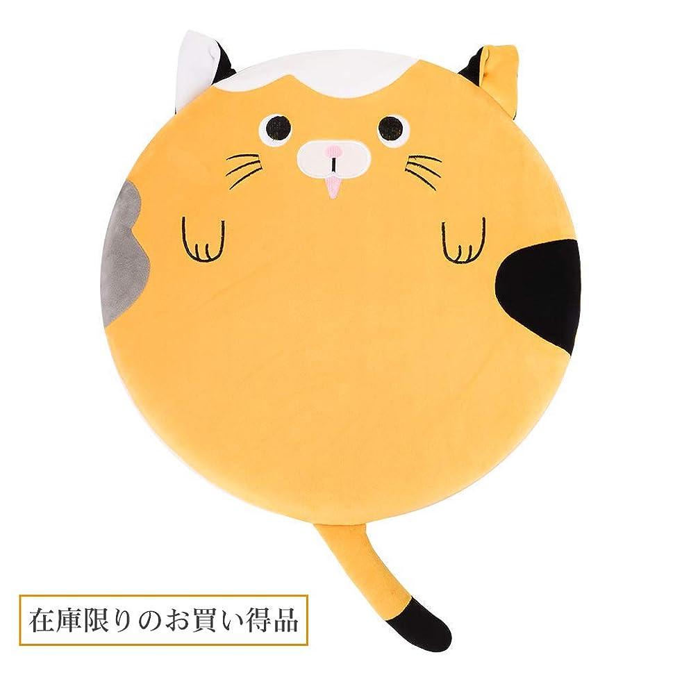 不十分な敵みなすBaibu Home 猫柄 座布団 低反発 クッション 丸 子供 ベビーチェアークッション 学童 食事 クッション 40cm 動物 可愛い 猫 かわいい プレゼント イェロー