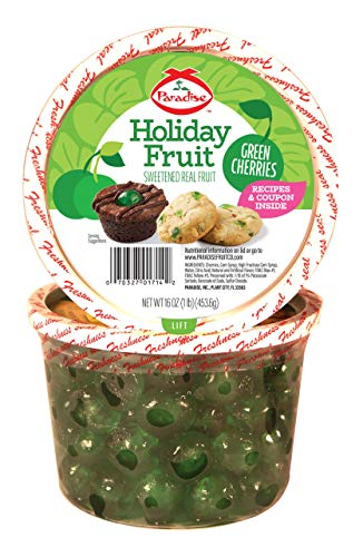 Paradise Cherries Whole, Green, 16 Ounce