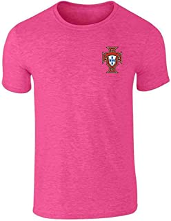 Portugal Soccer Retro National Team Football Graphic Tee T-Shirt for Men