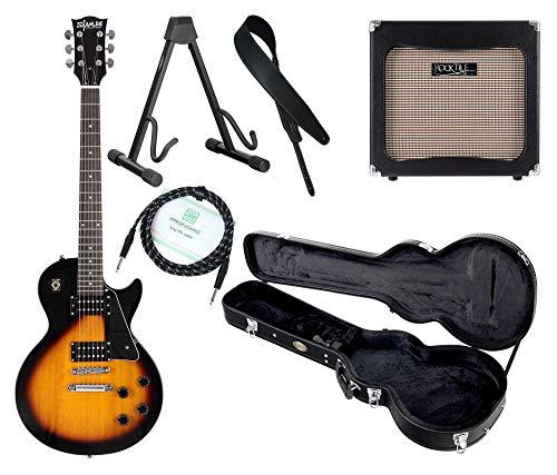 Shaman Element Series SCX-100VS Komplett Set - E-Gitarre - Modeling-Verstärker - Koffer - Ledergurt - Ständer - Kabel - Vintage Sunburst