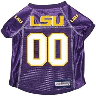 Louisiana State LSU Tigers Premium NCAA Pet Dog Jersey w/ Name Tag SMALL
