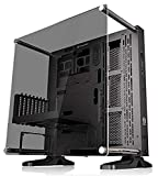 Thermaltake Core P3 ATX Tempered Glass Gaming Computer Case Chassis, Open Frame Panoramic Viewing, Glass Wall-Mount, Riser Cable Included, Black Edition, CA-1G4-00M1WN-06