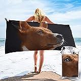 mengmeng Basenji - Toalla de secado rápido para perros, ideal para deportes, gimnasio, viajes, yoga, camping, natación, súper absorbente, compacta, ligera, toalla de playa