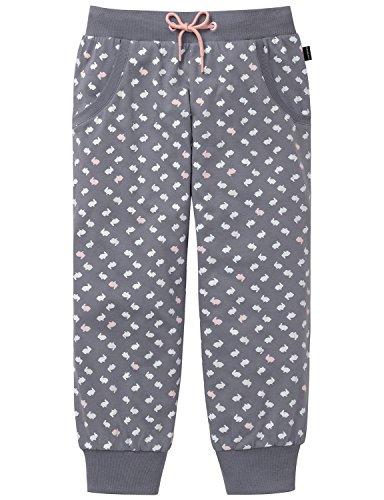 Schiesser Mädchen Mix & Relax Jerseypants 3/4 Schlafanzughose, Grau (Grau 200), 152
