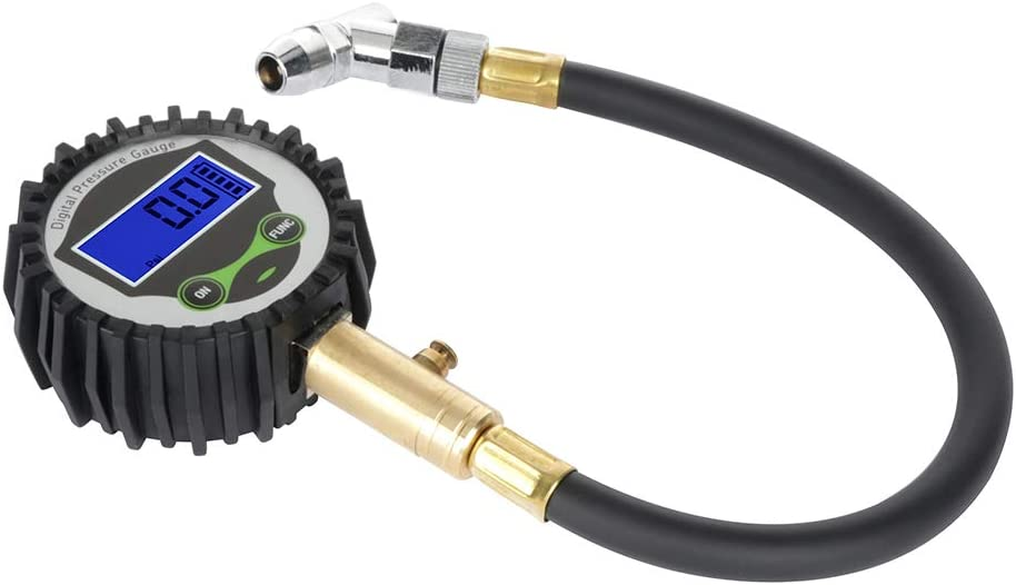 LCD Cheap sale Digital Tire Inflator Pressure Gauge C Max 56% OFF 200 Psi Chuck Air And