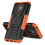 MingMing Case for Nokia 3.4, Kickstand Heavy Duty Armor