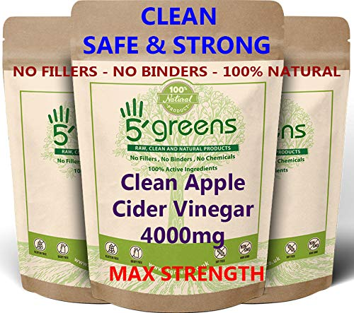 Apple Cider Vinegar 4000mg Per Capsule | 120 Capsules | High Strength Weight Loss Formula | Non GMO, Gluten Free & Vegan | 5 x Stronger Then Other Sellers