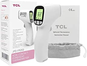 TCL Non-Touch 3-in-1 Digital Infrared Forehead Thermometer with 3-Modes Body, Surface, Room w/Fever Alert Function for Inf...