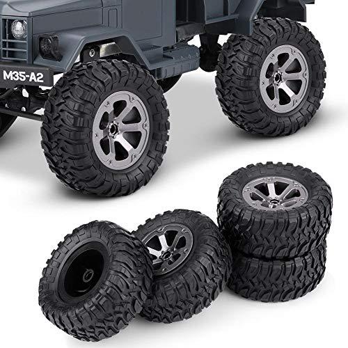 VIFERR Crawler Reifen, 4 Stück 01.16 Raupen Reifen Gummireifen RC Zubehör Fernbedienung Militaty Autoteile