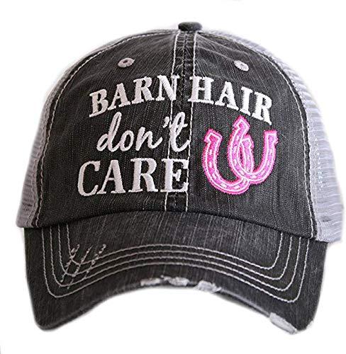 KATYDID Barn Hair Don't Care Baseball Cap - Trucker Hat for Women - Stylish Cute Sun Hat (Pink)
