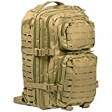 US Assault Pack grandes Corte Del Laser coyote