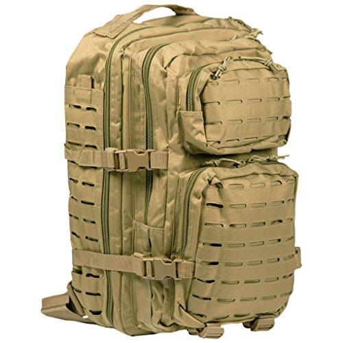 Mil-Tec Zaino Militare Tattico LASER CUT MOLLE US Assault - LARGE - camo TAN DESERT (COYOTE)