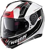 Nolan N87 Skilled N-Com - Casco (talla XL), color blanco y negro