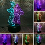 Fanrui Figurines Toy Story Woody Buzz Lightyear Friends Model Kids 3D Mix Double Illusion LED Night Light 7 Color Change Srmart Professional Lighting Glow in The Dark Figure Toys Child Boys Xmas Gifts
