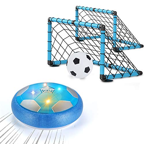 OMWay Kids Toys for 3-10 Year Old Boys, Hover Soccer Ball,Easter Christmas Birthday Gifts for Boys Age 4 5 6 7 8 9, Kids Games for Indoor Outdoor Yard Backyard Outside, 2 Goals and Nets Included.
