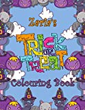 Zaria's Trick Or Treat Colouring Book: Zaria Personalised Custom Name Halloween Colouring Activity - 8.5x11 - Magical Cats and Crawlies Theme