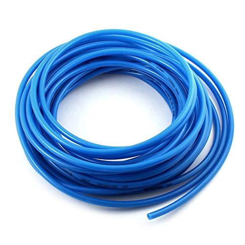 Pneumatik Polyurethan PUN Schlauch 5 meter Außen 6mm x Innen 4mm Blau Flexibel Druckluftschlauch Luft Treibstoff Öl