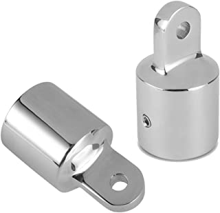 Amadget 2 PCS 3/4'' Bimini Top Caps Tube Canopy Hardware, Eye End Top Fitting Marine 316 Stainless Steel, Fits 3/4