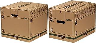 Fellowes Caisses de Déménagement, Carton Double Epaisseur SmoothMove, 85 L, 40,5 x 45,5 x 45,5 cm (Lot de 5) & Caisses de ...