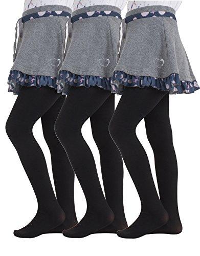 3 Paar Kinder Strumpfhose   Strumpfhose Schule Uniform   40 den  Made in Italy, 8-10 Jahre, 3 Paar Schwarz